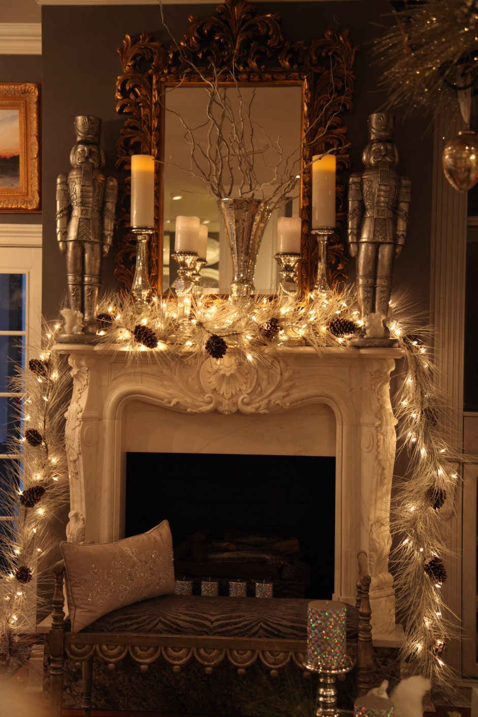 Homewithsparkle Fireplace Mantle
